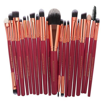 20 Pieces Makeup Brush Set, Staron Makeup Brushes Kit Foundation Face Eye Shadow Eyeliner Blush Lip Cosmetic Powder Cosmetics Blending Makeup Brush Tool