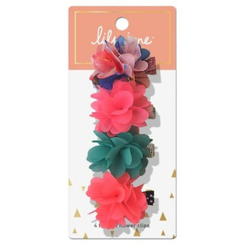 Lily Jane Fashion Flower Clips - 4ct
