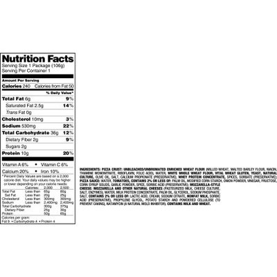 Nutrisystem Feel Good Favorites Thick Crust Pizza, 3.8 oz, (Pack of 6)
