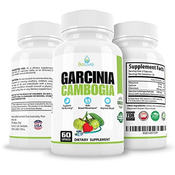 Garcinia Cambogia | Most Natural Fat Burner Weight Loss Pills for Women and Men | Carb & Fat Blocker, Appetite Suppressant, Metabolism Booster. 100% Pure HCA [60 Capsules]