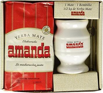 Mate Kit Gourd Cup Yerba Bombilla Straw Argentina Green Tea Amanda Bag Loose New