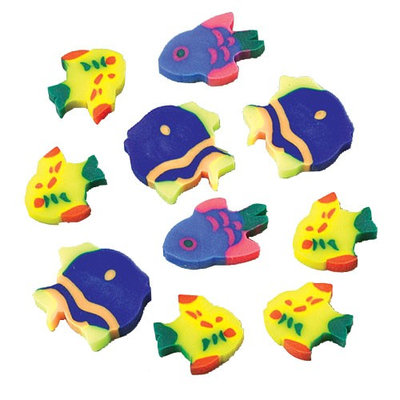 US Toy Company LM53 Mini Fish Erasers#44; 144Pack
