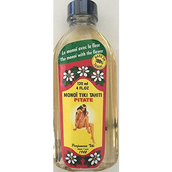 Monoi Tiki Tahiti Pitate Jasmine Pikake Body Suntan Massage Coconut Oil 4 Fl. oz