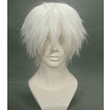 Mainlead Tokyo Ghoul Tokyo Guru Kaneki Ken Cosplay Halloween Wig Silver White