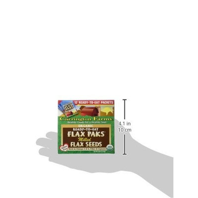 Carrington Farms Organic Milled Flax Seed, Gluten Free, USDA Organic, 12 Count Easy Serve Packets (Pack of 6), Packaging May Vary