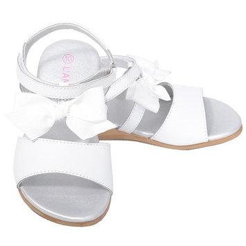 L'Amour White Bow Straps Spring Summer Sandals Toddler Girls 7-10