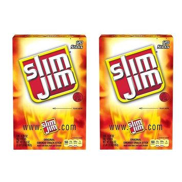 Slim Jim AOaUQP Smoked Snack Sticks, Original, .28 Ounce, 120 Count (Pack of 2)