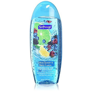 Softsoap Moisturizing Body Wash, Citrus Splash and Berry - 18 fl oz