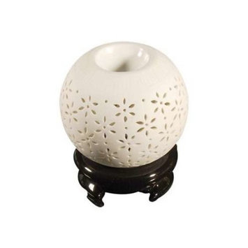 Vandue Royal Massage Tea Light Aromatherapy Oil Burner - Ball Shaped with Holder