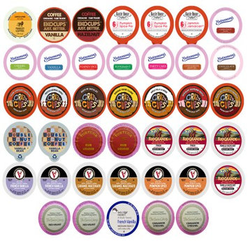 Perfect Samplers Flavored Coffee Single Serve Cups For Keurig K cup Brewers Variety Pack Sampler, 40 count (Flavored Sampler)