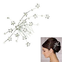 Tenworld Women Girl Silver Gem Crystal Jewelry Princess Hair Accessories