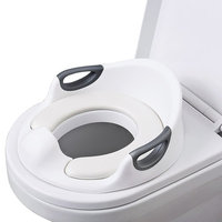 Potty Training Seat For Kids Boys Girls Toddlers Toilet Seat For Baby With Cushion Handle And Backrest Toilet Trainer For Round And Oval Toilets