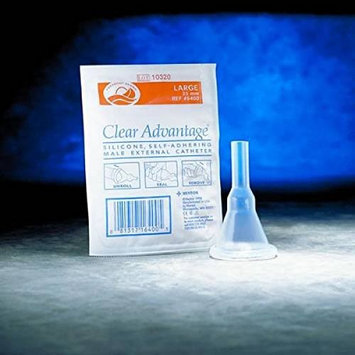 10 Pack Condom Catheter Adhesive 35mm Large Freedom Clear Advantage Aloe Vera #6430