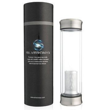 SilverOnyx Tea Infuser Bottle For Loose Tea - 14oz