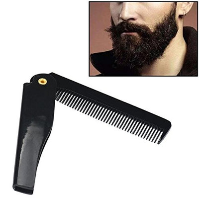1 Sets Combs Hair Brush Hairdressing Comb Folding Beard Tools Combo Pocket Long Round Handle Holder Alluring Popular Natural Grooming Women Travel Kit