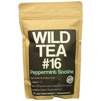 Organic Peppermint Tea, Loose Leaf Herbal Peppermint Leaves, Wild Tea #16 Peppermint Soothe by Wild Foods