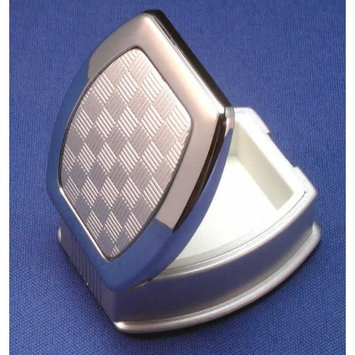 Chrome Plated Pill Container in Silver