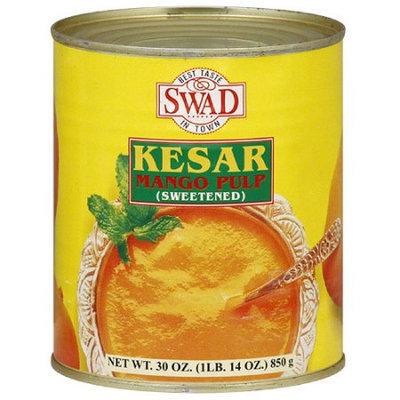 Swad Sweetened Kesar Mango Pulp, 30 oz, (Pack of 6)