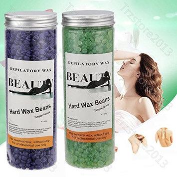 Depilatory Hard Wax Brazilian Beans Hot Film Waxing Bead For Hair Removal ,14 Ounce/400g (Mixed