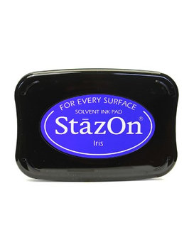 Tsukineko StazOn Solvent Ink iris, 3.75 in. x 2.625 in, full-size pad [pack of 2]