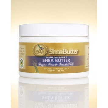 100% Unrefined Certified Grade A Shea Butter with a Hint of Organic Lavender Essential Oil 1 oz. By AAA Shea Butter