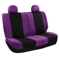 Full Car Seat Covers for Auto Set Purple w/Steeringl/Belt Pad/Carpet Floor Mat