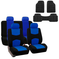Car Seat Cover Full Set For Auto Fit Most Car with Floor Mat Blue