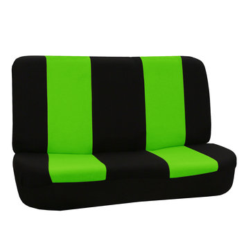Fh Group FH-FB050112 Flat Cloth Car Seat Covers, Full Set with Solid Bench, Green / Black