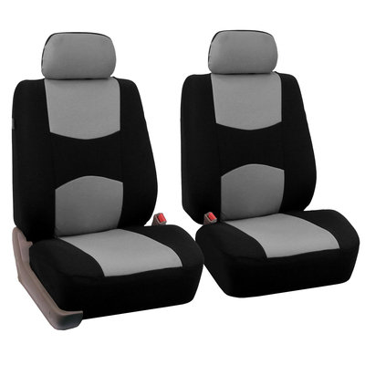 Car Seat Covers for Auto with w/ Gray All Weather Floor Mat/4Headrests Gray
