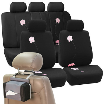 Car Seat Covers High Quality Sets in Black For Car SUV Free Gift Tissue Dispenser
