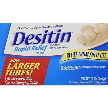 DESITIN liNkMV Rapid Relief Zinc Oxide Diaper Rash Cream, 12 Ounce