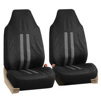Car Seat Covers for Auto Oxford Water Proof Pet Dog Black Gray 4 Headrests