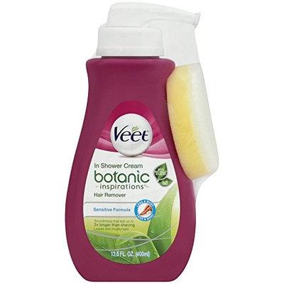 Veet In Shower Hair Removal Cream, Botanic Inspirations, Legs & Body, 400 ml (Pack of 3)