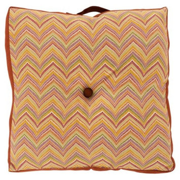 Surya 22 x 22 in. Decorative Button Tufted Polyester Floor Cushion Pillow