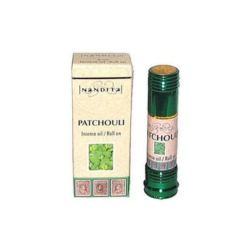 Patchouli - Nandita Incense Oil/Roll On - 1/4 Ounce Bottle