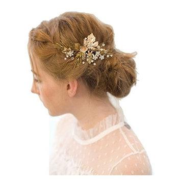Meiysh Vintage Gold Twig Hair Clips Bridal Headpiece Wedding Accessories