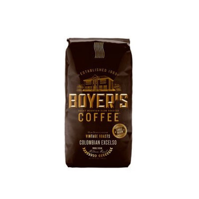 Boyer's Coffee Colombian Excelso Whole Bean Coffee, 12 oz