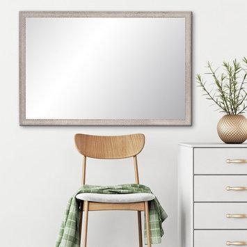 BrandtWorks Farmhouse Gray and White Wall Mirror