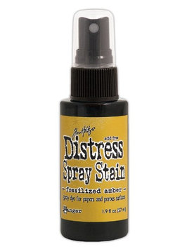 Ranger Tim Holtz Distress Spray Stains 1.9 fl. oz, bottle, fossilized amber [pack of 3]