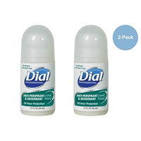 DIAL PROFESSIONAL Hypoallergenic Anti-perspirant & Deodorant CRYSTAL BREEZE 24 Hour Protection 1.5 FL OZ (44 ml) 2-PACK
