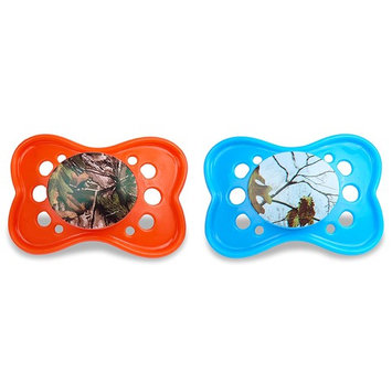 Orthodontic Pacifier | Realtree Xtra Colors Orange and Blue, BPA Free, Dishwasher safe – 2 Count Pack