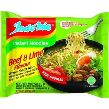 Indomie Instant Noodles Soup Beef & Lime Flavor for 1 Case (30 Bags)