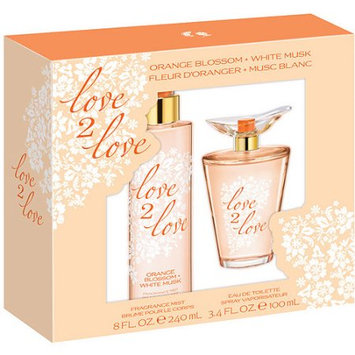 Love2love Love 2 Love Orange Blossom + White Musk Gift Set, 2 pc