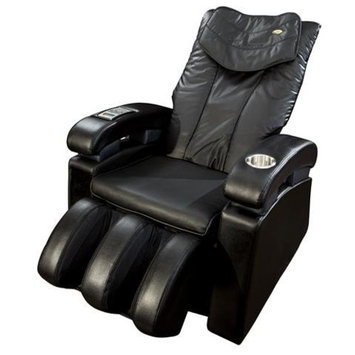 Luraco Sofy Massage Chair with Calf Rollers, Black