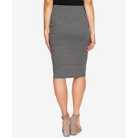 Checked Pull-On Pencil Skirt