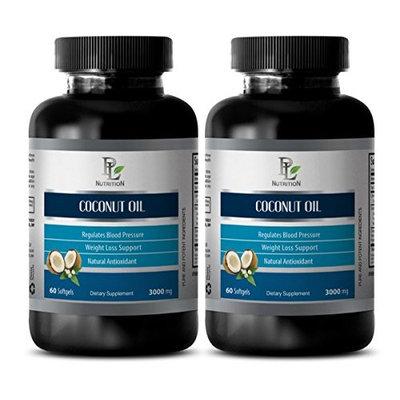 Natural detox - COCONUT OIL - Coconut oil softgels - 2 Bottles 120 Softgels