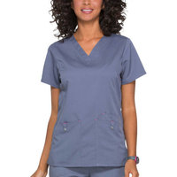 SCRUBSTAR Women's Premium Collection Stretch Rayon V-Neck Scrub Top