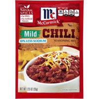 McCormick Chili, Mild Less Sodium Mix, 1.25 OZ (Pack of 6)
