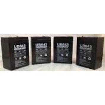 UB645 6 Volt 4.5 AMP SLA/AGM Battery - 4 Pack + FREE SHIPPING!