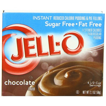 Jell-O Sugar-Free Instant Pudding & Pie Filling, Chocolate, 2.1-Ounce Boxes (Pack of 24)